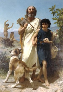 1874, Homer and his Guide