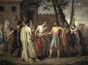 Cincinato_abandona_el_arado_para_dictar_leyes_a_Roma,_c.1806_de_Juan_Antonio_Ribera