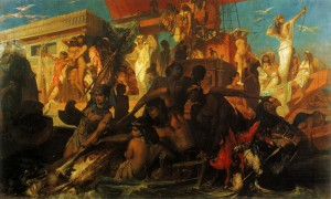 Makart_The Nile Hunt of Cleopatra